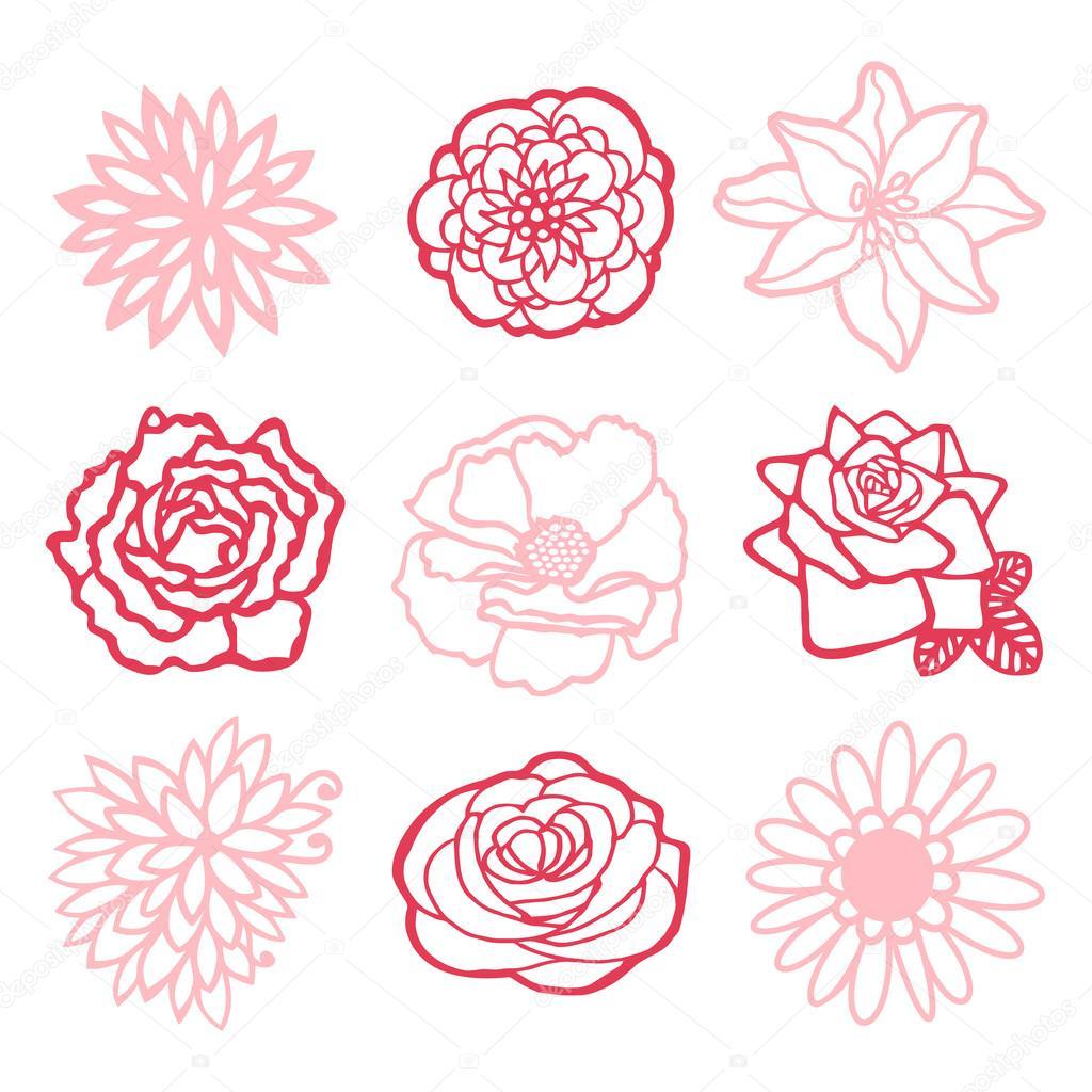 Line Art Flowers Husqvarna : 달콤한 꽃 라인 아트 드로잉 — 스톡 벡터 totallyjamie