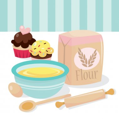 Cupcakes Baking Scene