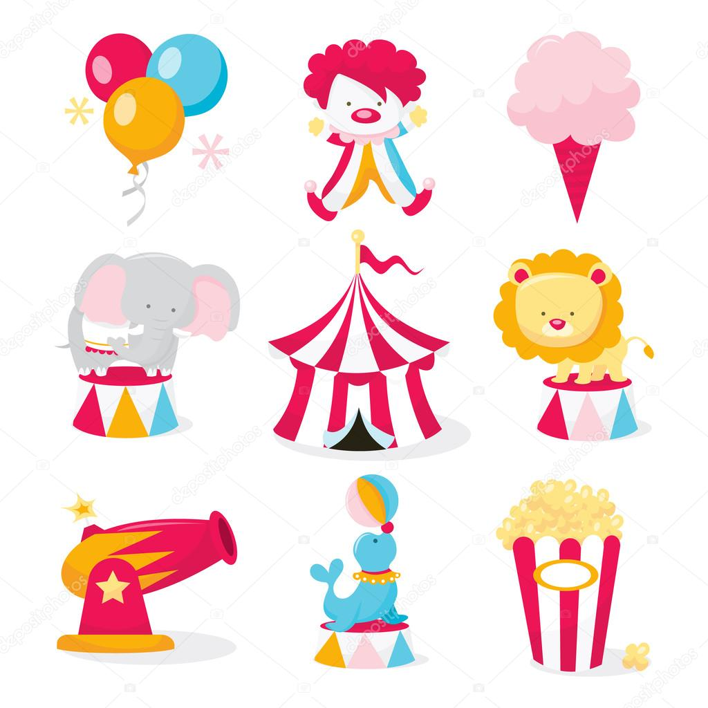 Animal Clipart Circus Free - Lion Circus Clipart, HD Png Download ,  Transparent Png Image - PNGitem