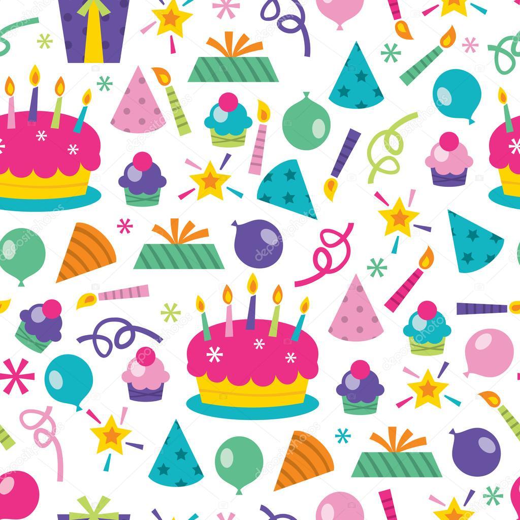 Verjaardag Verrassing Naadloze Patroon Achtergrond Stockvector