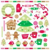 Retro-Weihnachtsleckereien und Süßigkeiten