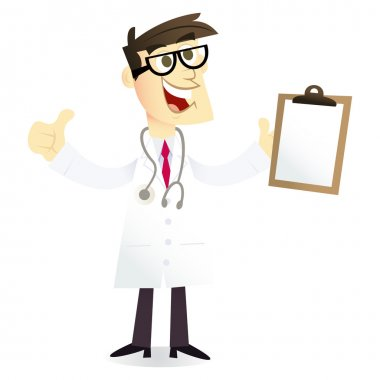 Cartoon Doctor With Good Medical Report