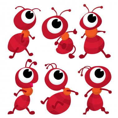Six Red Ant