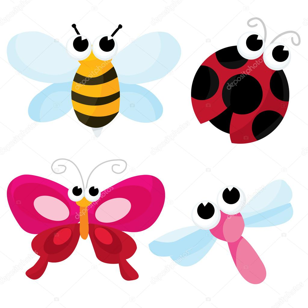 cute cartoon insects u2014 stock vector totallyjamie 73527525