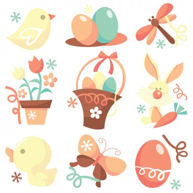 Easter Holiday Icons