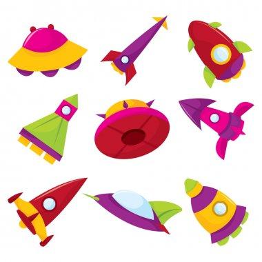 Cute Cartoon Spacecraft