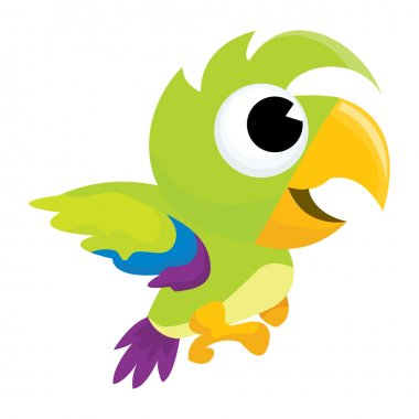 Cute Cartoon Parrot