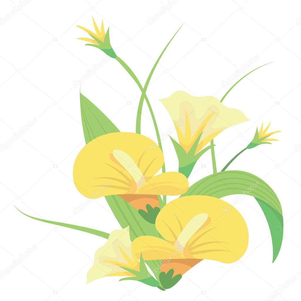 Yellow Flower Arrangement Stock Vector Totallyjamie 73541935