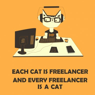 Cat freelancer