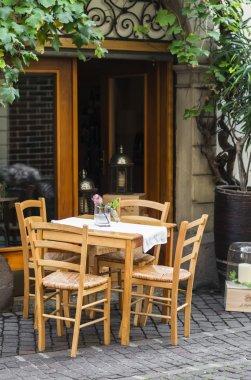 street cafes in Bolzano, South Tyrol, Italy