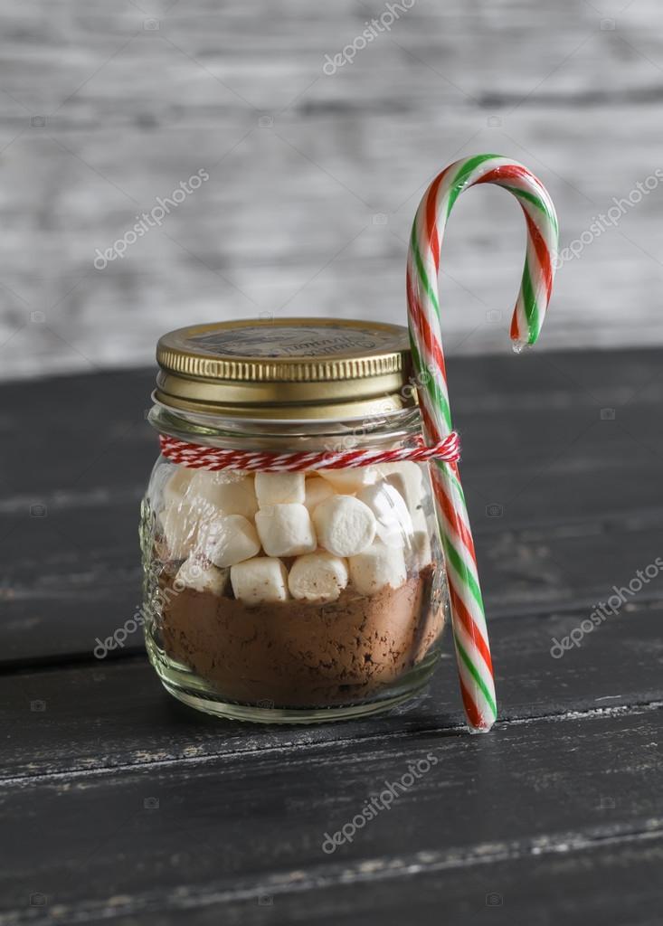 Hausgemachte Weihnachtsgeschenk - Zutaten für eine heißen Schokolade ...