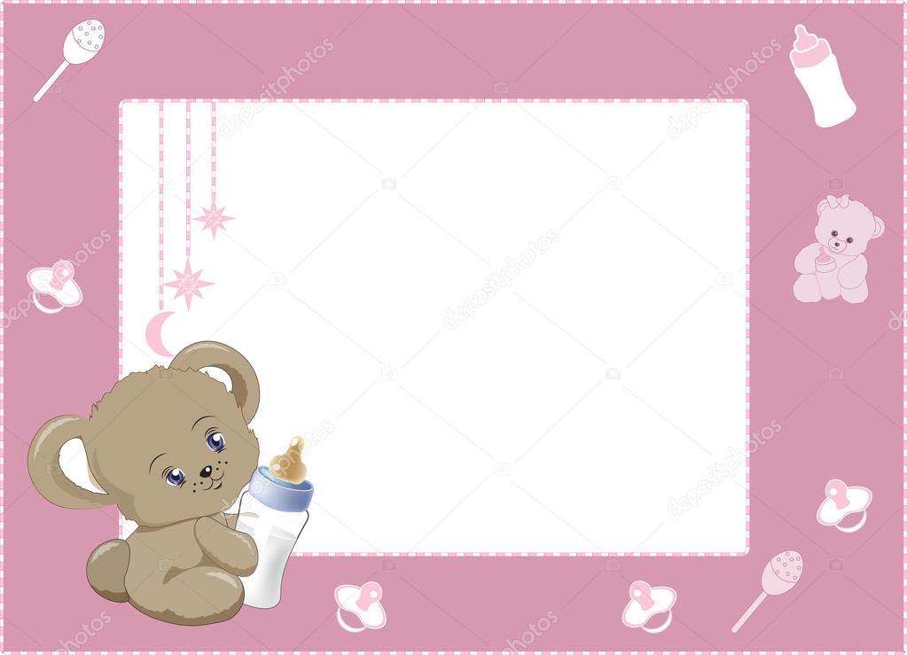 meine ersten Bilderrahmen rosa 2 — Stockvektor © Lollitta #104584960