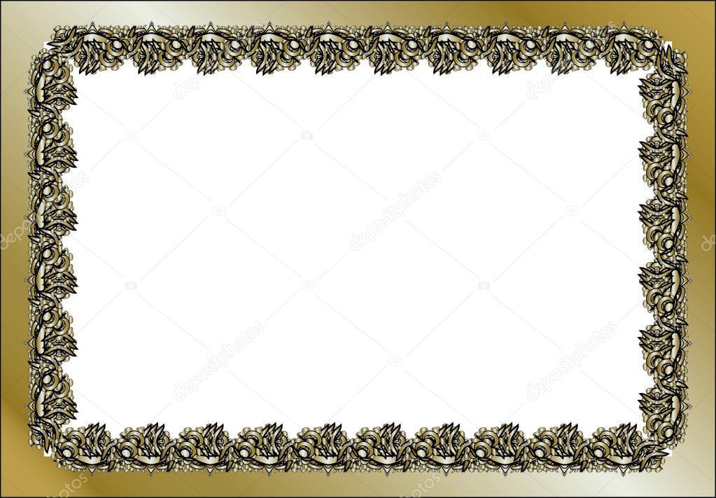 vintage rectangular frame — Stock Vector © Lollitta #80881038