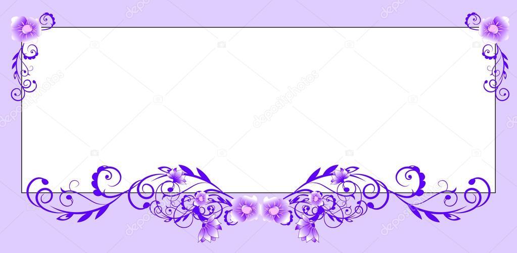 marco decorado con flores — Archivo Imágenes Vectoriales © Lollitta ...