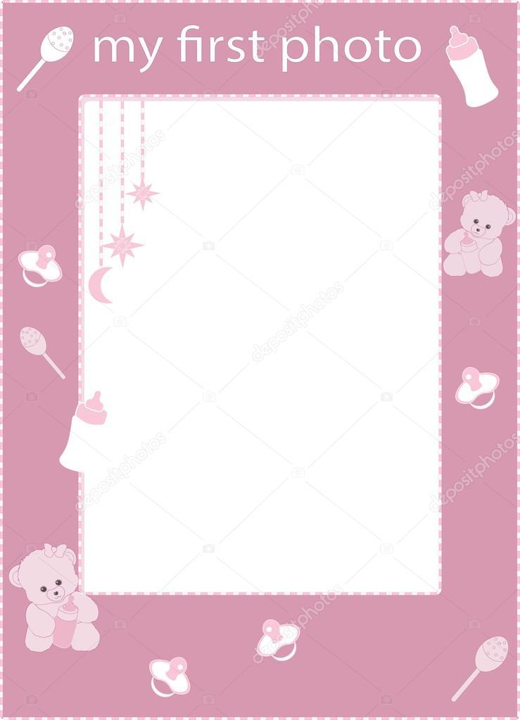 meine ersten Bilderrahmen Rosa — Stockvektor © Lollitta #94976732