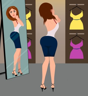 Girl in the fitting room