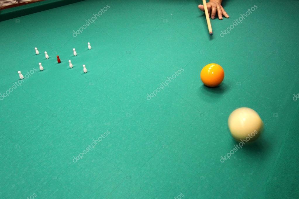 Italian Billiards Bowling Pins And Balls Stock Photo Caranto - Italian pool table