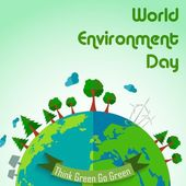 World environment day concept earth globe background