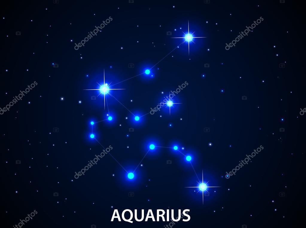 Set Of Symbol Zodiac Aquarius Stock Vector Artnovi 84443900