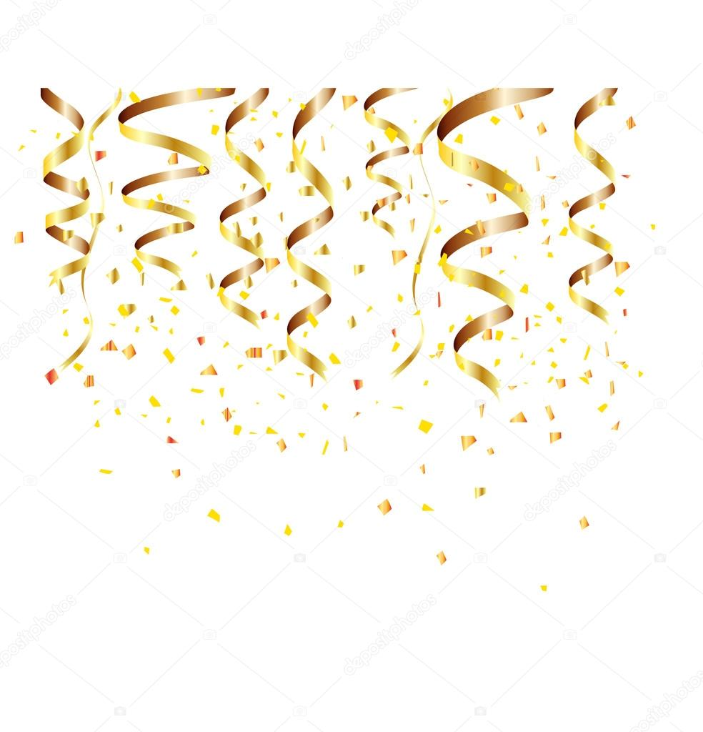 happy new year background with golden confetti stock vector