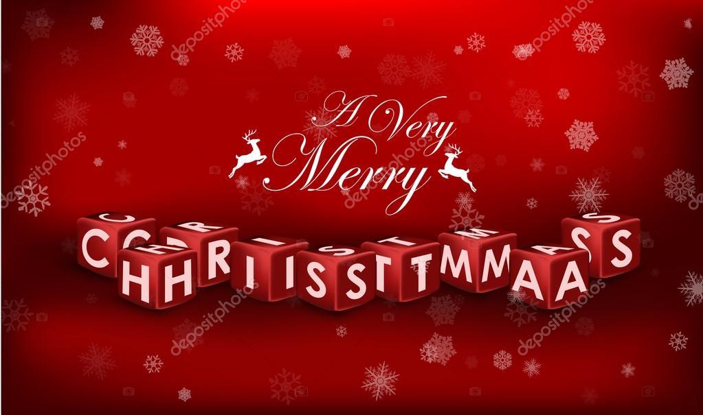 Frohe Weihnachten 3d.Frohe Weihnachten 3d Text Auf Rotem Hintergrund Stockvektor