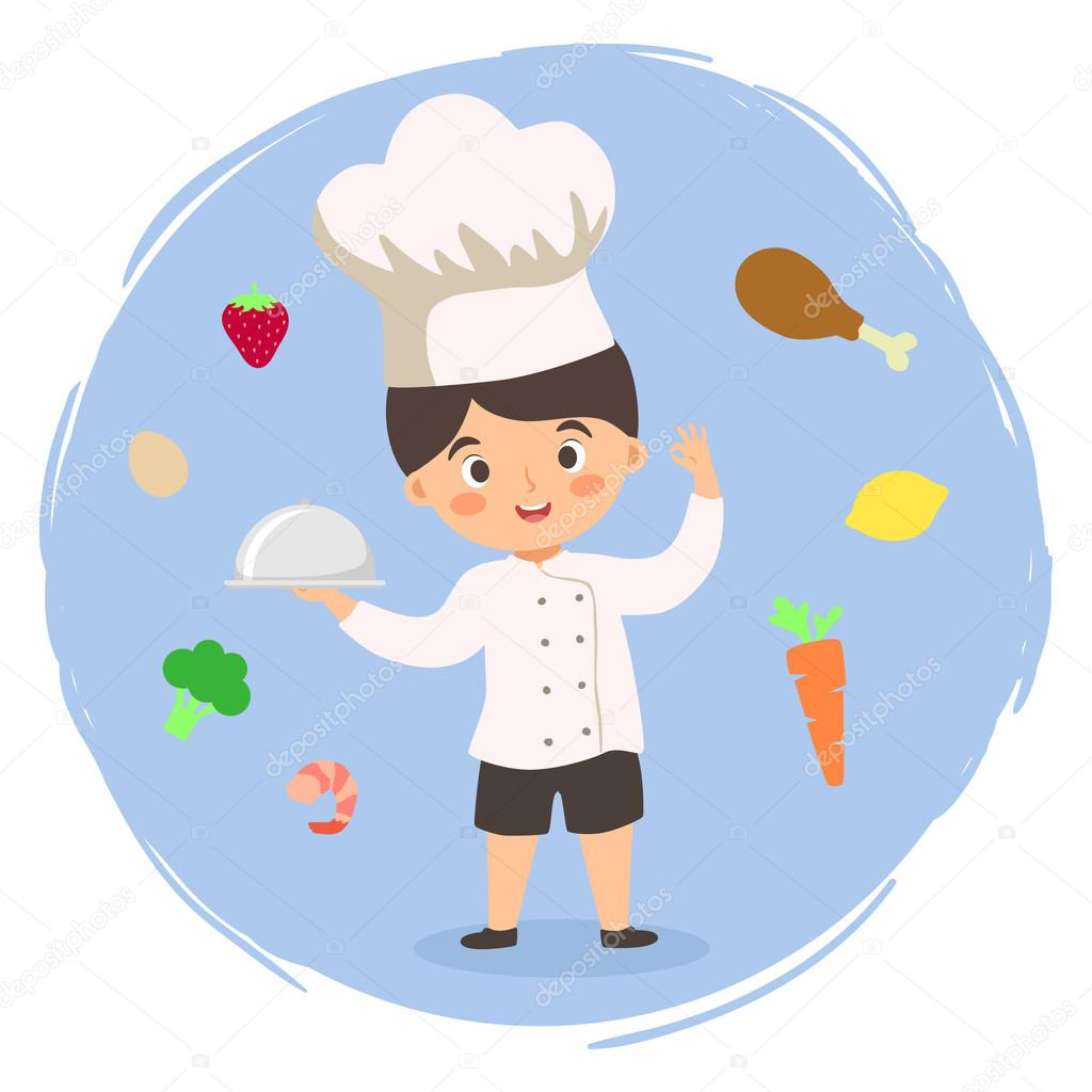 Chef boy cartoon vector stock vector anitnov 122144110 - Dibujos de cocineros infantiles ...