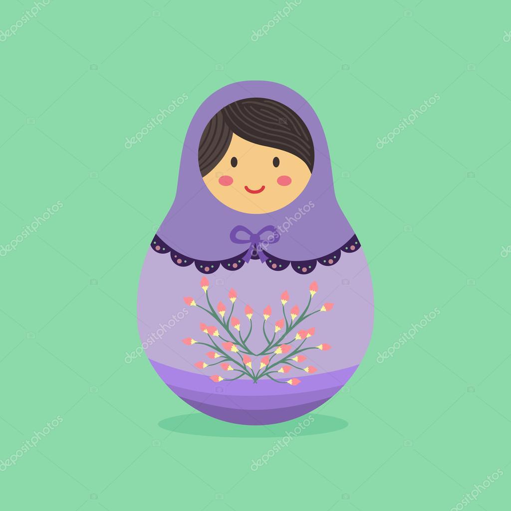Cute Russian Doll Purple
