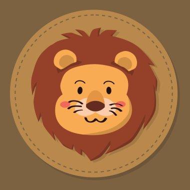 Cute Lion Head Cartoon