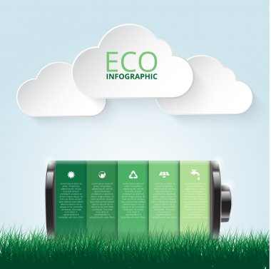 Vector illustration of eco infographic.