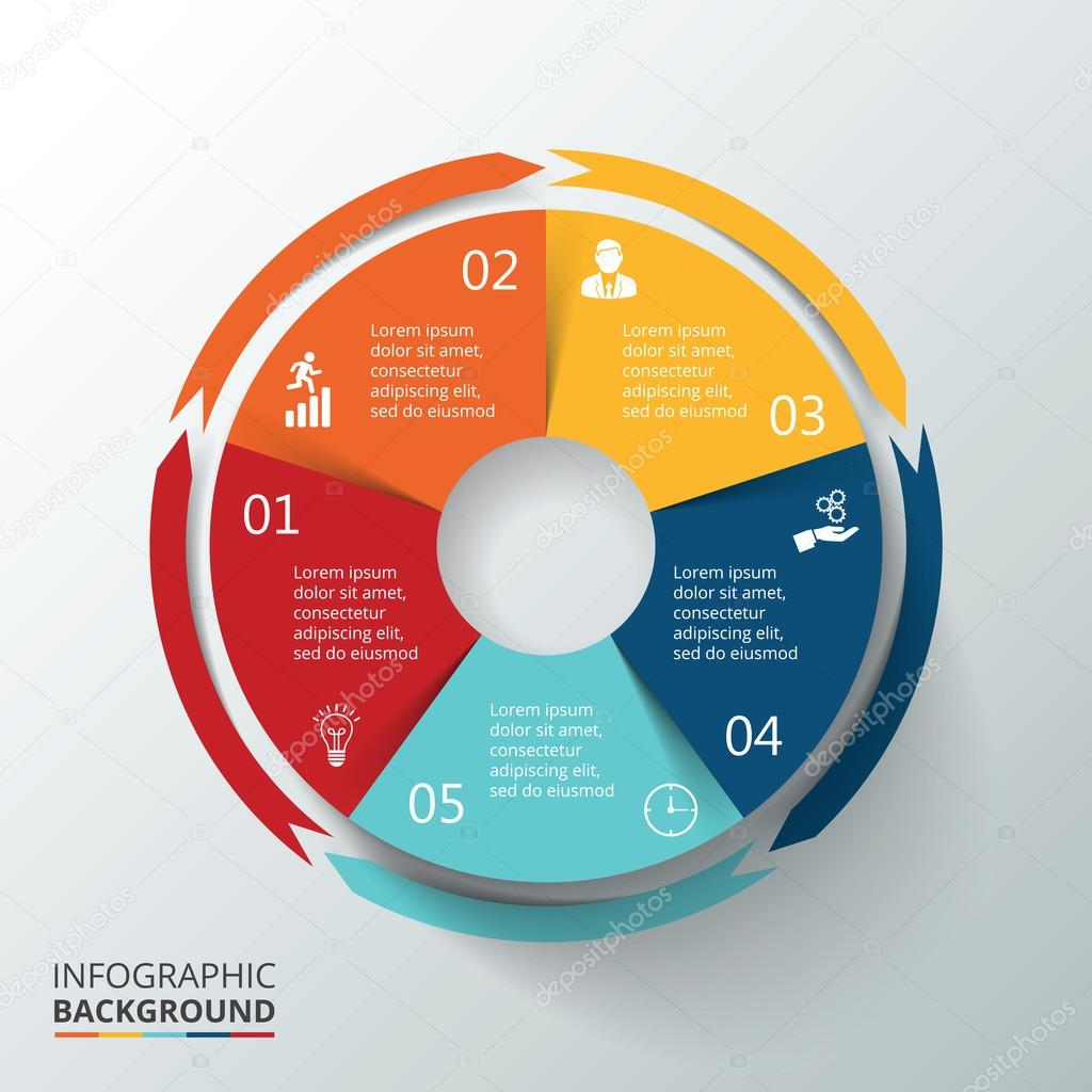 Vector circle infographic.