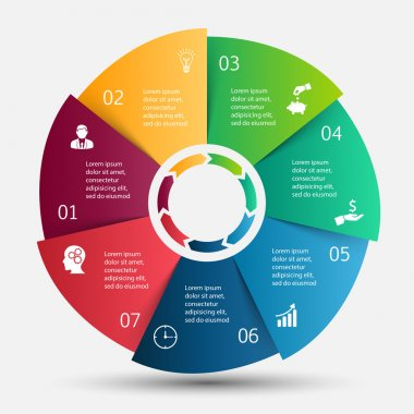 Circle infographic with colorful segments