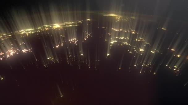 Volo sul pianeta di notte