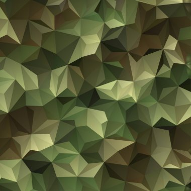 Abstract Vector Military Camouflage Background Made of Geometric Triangles Shapes stock vector