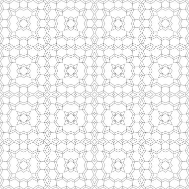 Vector Abstract Seamless Geometric Islamic Wallpaper.