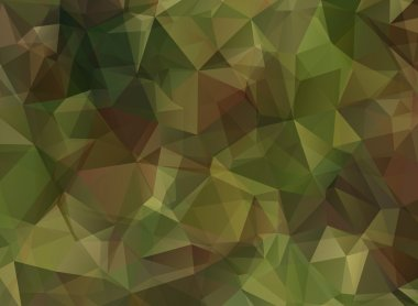 Abstract Military Camouflage Background Made of Geometric Triangles Shapes stock vector