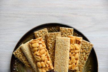 Dessert nuts, sunflower seeds and flax, candied glaze