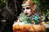 Halloween-schöne Mädchen-gnome