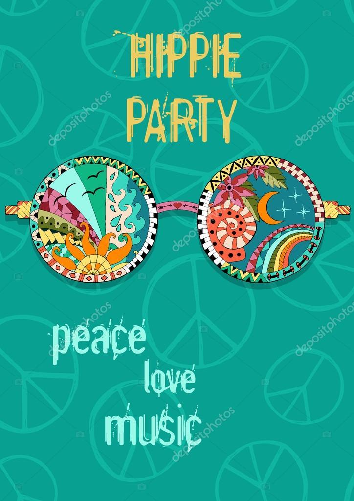 "Poster Plakat /""Flower Power/"" Hippie-Poster Retro-Style"