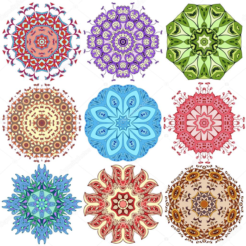 Diseño De Mandala A Color Descargar Vectores Gratis