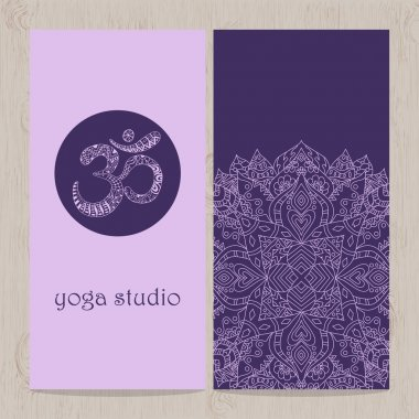Yoga vertical vector banner