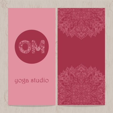 Yoga vertical vector banner