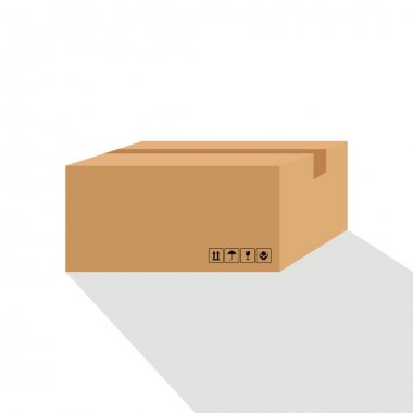 Isolated cardboard vector graphics icon