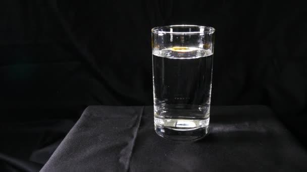 Capsule dissolves in water
