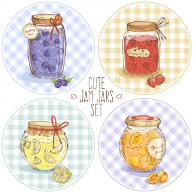 Cute jars with jam