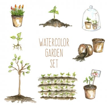 set of garden items