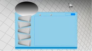 Vector mattress design website template, on-line shopping