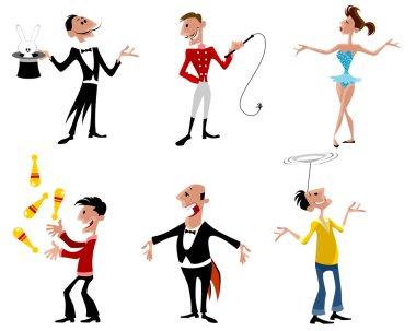 Six circus artist
