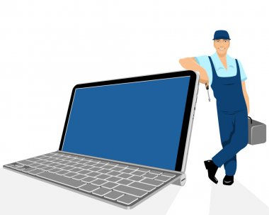 Laptop and repairer