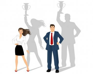 Man and woman - business leaders