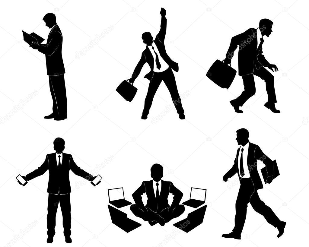 六つのビジネスマンのシルエット ストックベクター Ashva 82569162